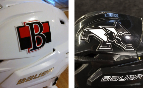 3D Hockey Helmet Decals