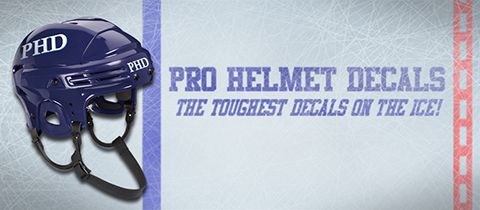 Pro Helmet Decals, the toughest decals on the ice!